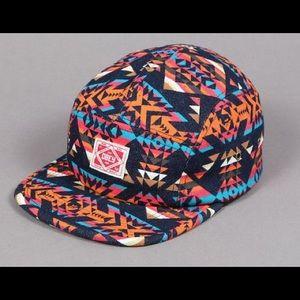 Obey Navajo Tribal Native Multi Color 5 Panel Hat